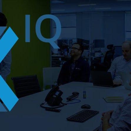 XIQ logo over data science team