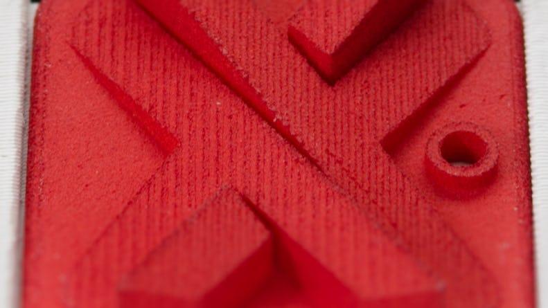 SLS red nylon Surface Finish