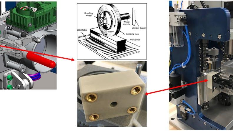 Custom part shown manufactured in SLS Nylon