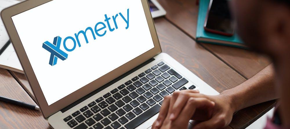 Xometry Logo on Laptop