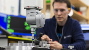 CMM inspection and measurement of part QA