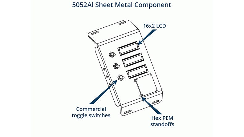 sheet metal component drawing