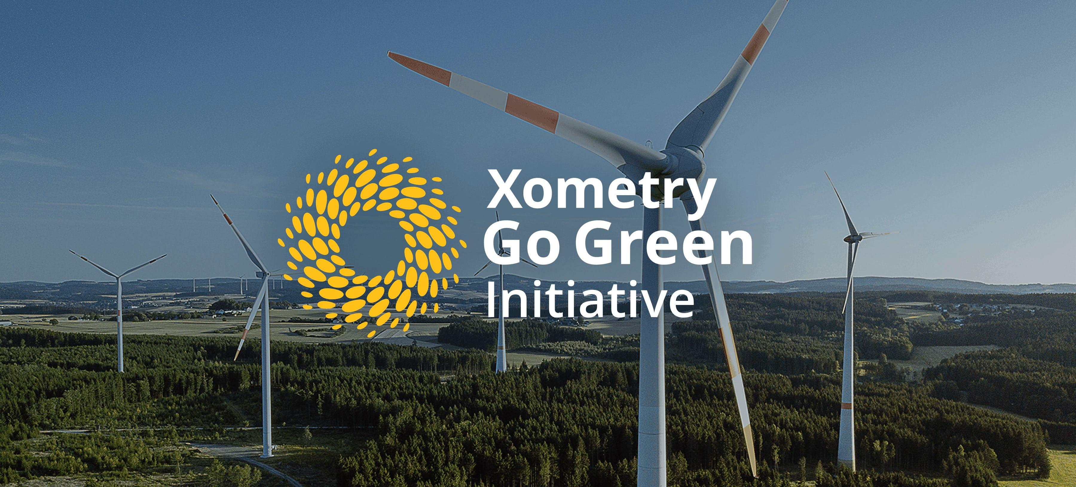 Xometry Go Green windmills
