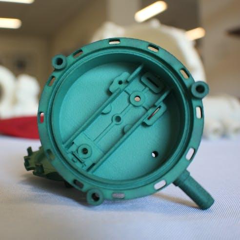 SLS 3D printed plastic parts
