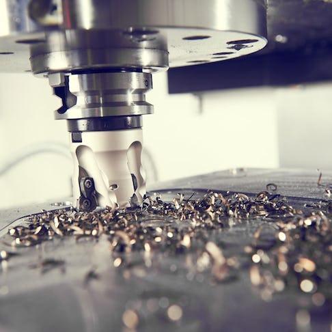 CNC machining in progress