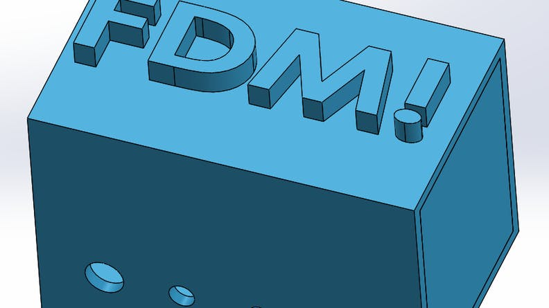Text on an FDM CAD file