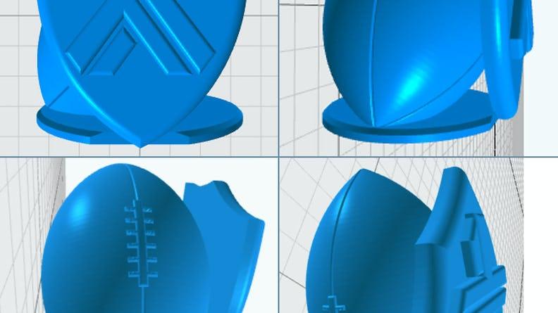 trophy design blue