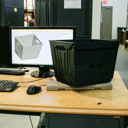 FDM 3d print large part mail tray box