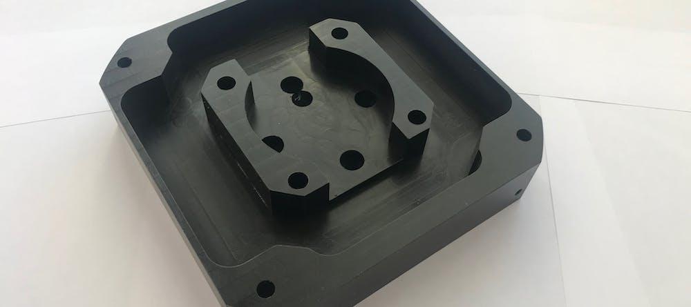 CNC Delrin Black Part