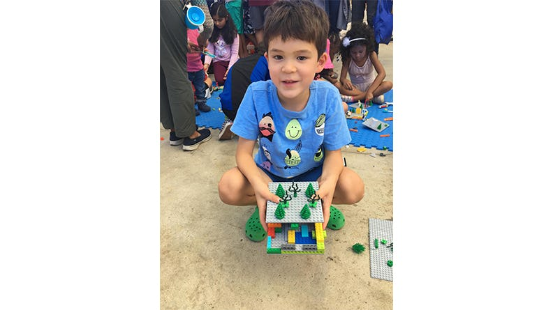 ethan with lego house