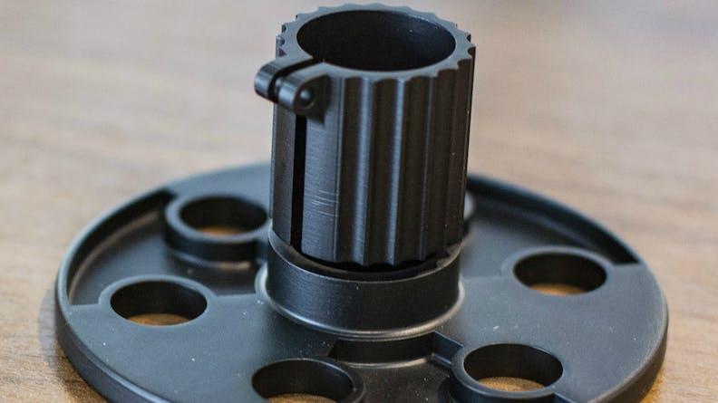 A custom manufactured SLA part