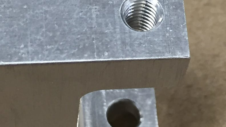 An example of a tapped hole
