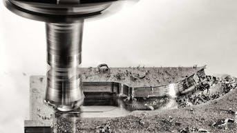 CNC milling machine machining part