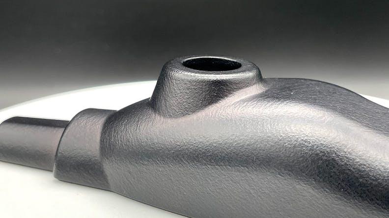 Chemical vapor smoothing HP MJF 3D prints
