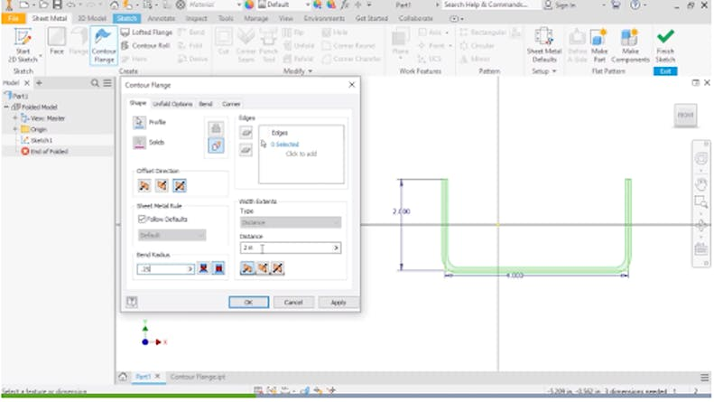 The Contour Flange Feature in Autodesk Inventor