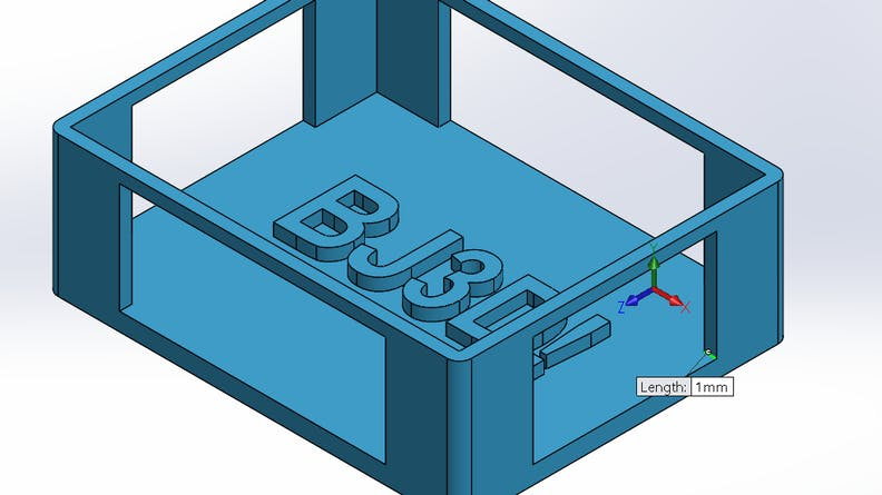 CAD showing appropriate wall thickness for binder jet parts