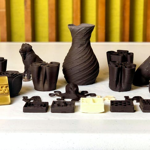 Chocolate Printed Parts Using Cocoa Press