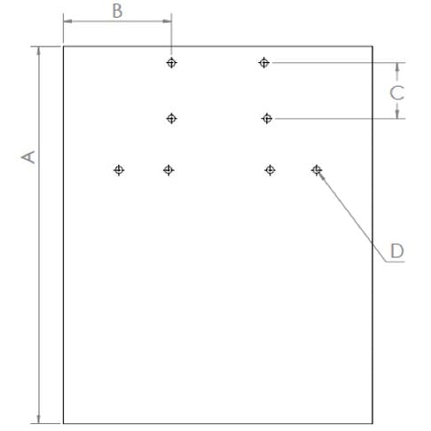 Flat sheet metal part dimensions