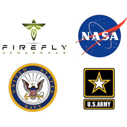 Firefly, NASA, Navy and Army logos