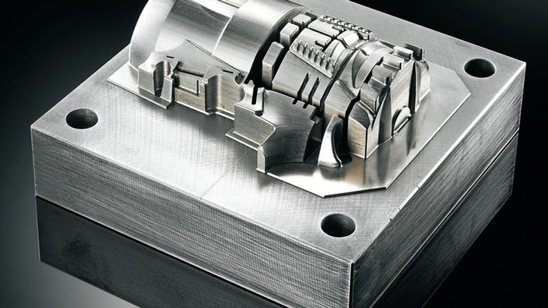 A hybrid printed and machined part from the Matsuura LUMEX platform