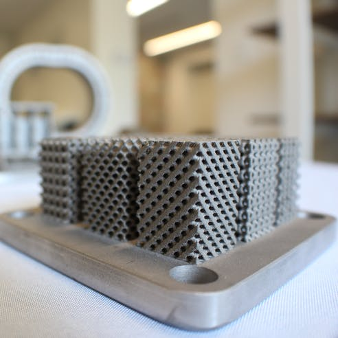 3D printed metal lattice structures in DMLS stainless steel