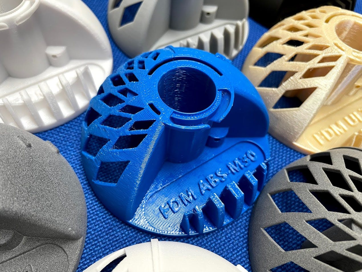 FDM ABS-M30 Blue and other materials
