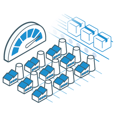 Icon for massive production capacity on demand