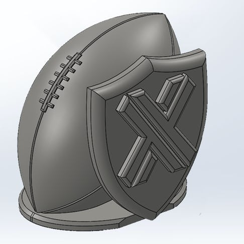 CAD fantasy football trophy