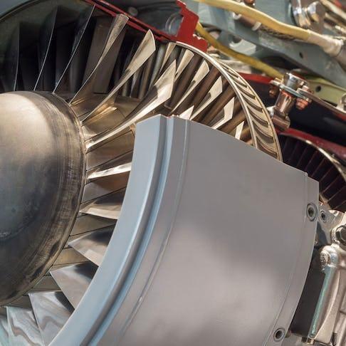 CNC machined aircraft engine