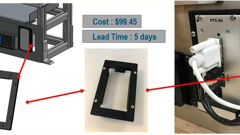 Cost and lead time for FDM part from Xometry
