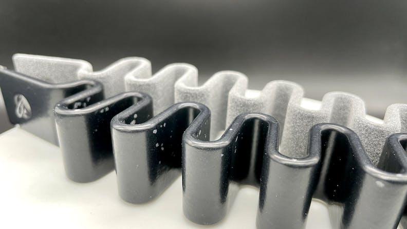 Vapor smoothing TPU rubber 3D prints