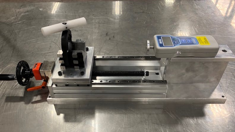 Xometry-manufactured assembly used to measure the displacement of car parts