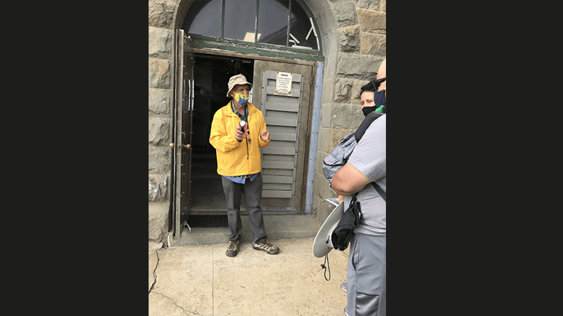 Richard Ruh, retired engineer and docent at Point Sur Lighthouse