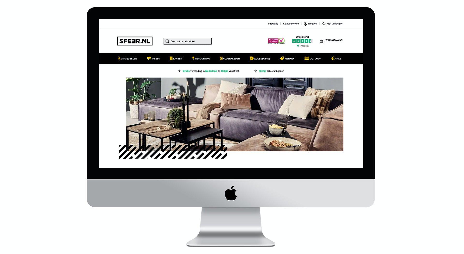 Sfeer.nl homepage