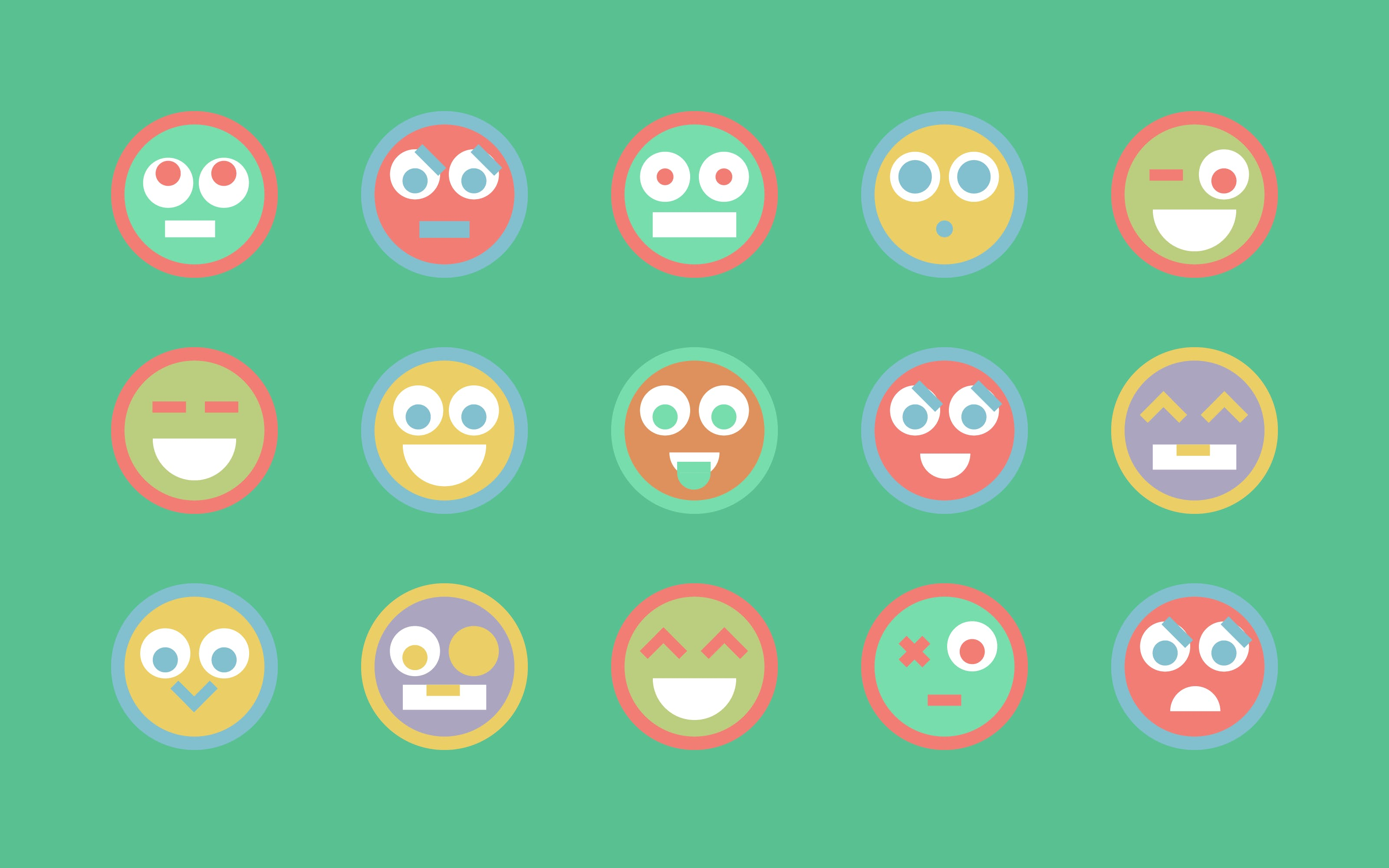 Superdot Studio Emoticon-Based Brand Language for Bildungslandschaften Basel, Switzerland, 2015