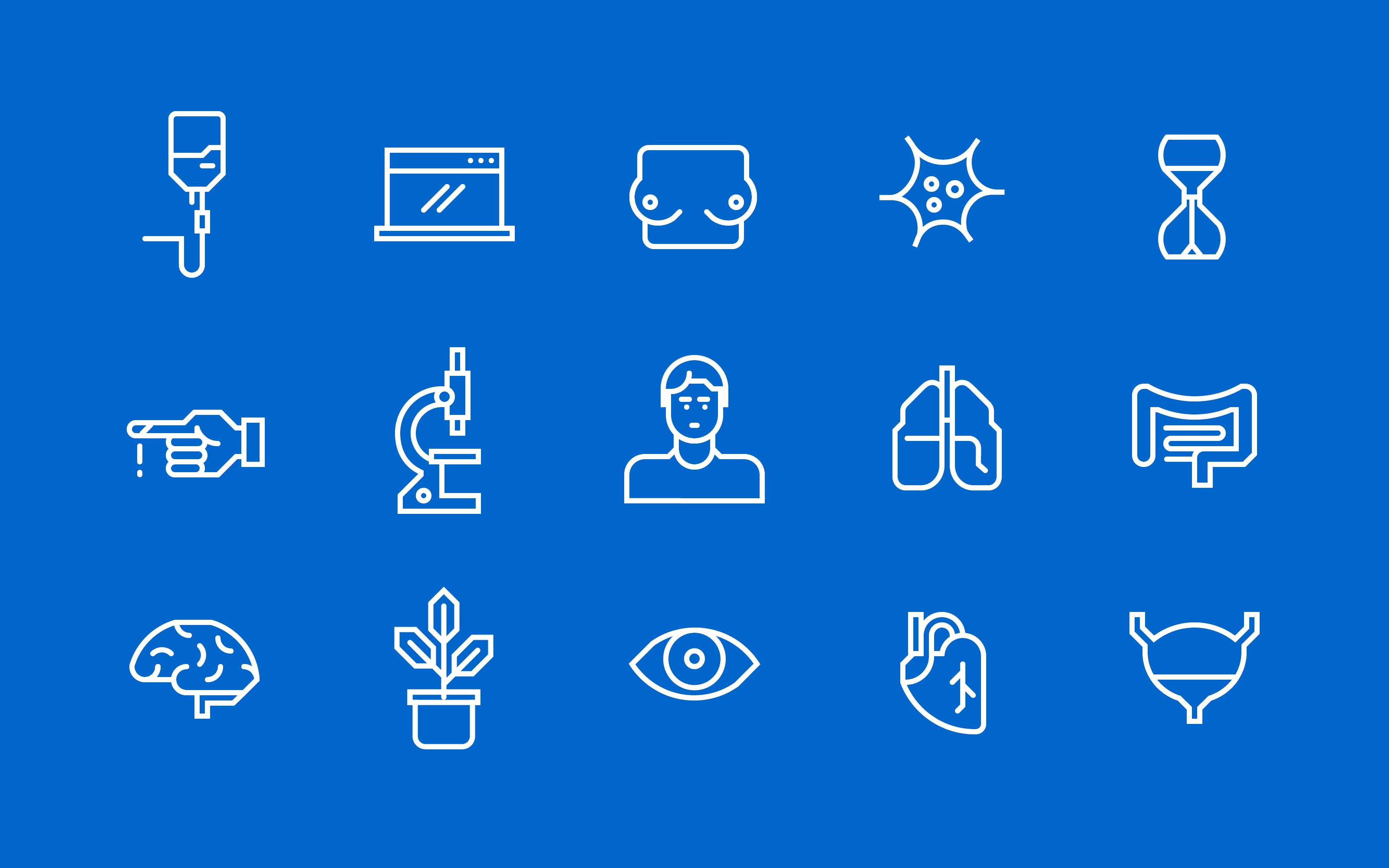 Superdot Studio Robust modular icon system for global brand communication for Roche