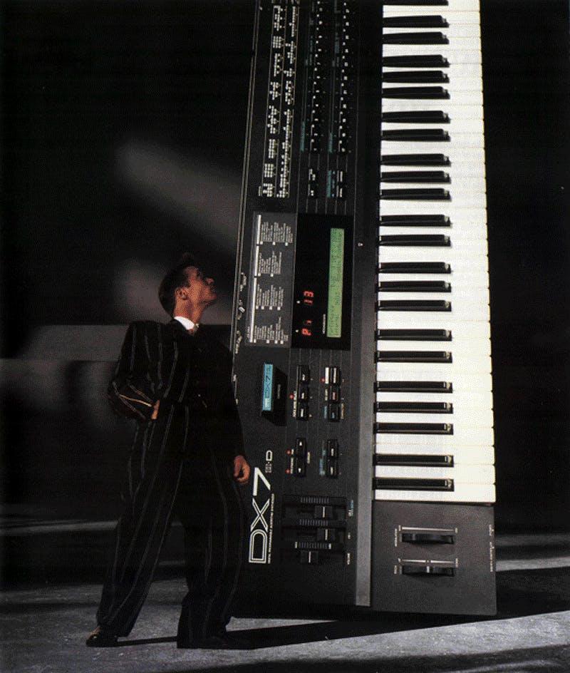 """Yamaha DX7II-D advertisement """"sound giant"""""""