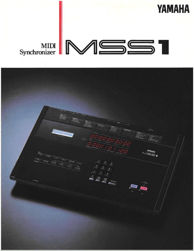 Yamaha MSS1 MIDI sync brochure