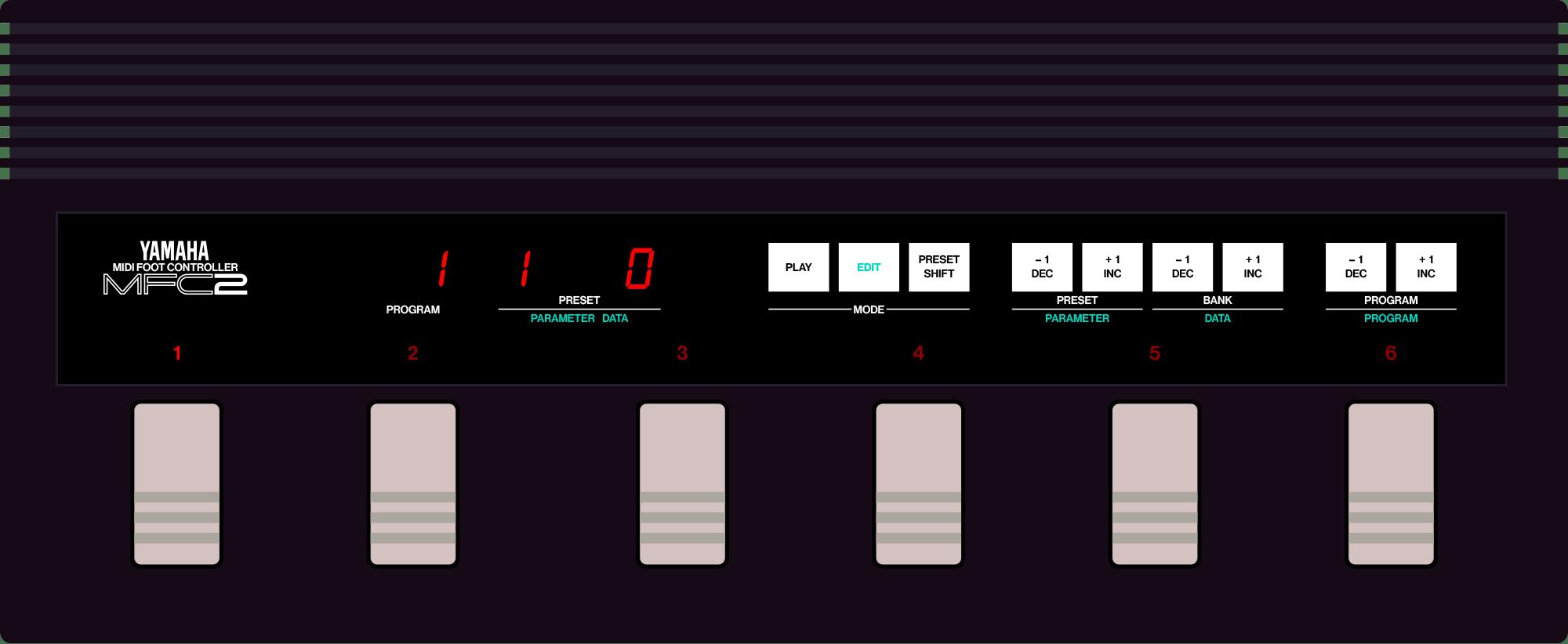Yamaha MFC-2 MIDI foot controller