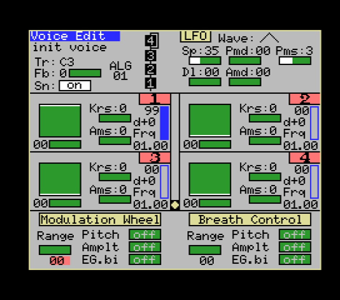Yamaha YRM103 editor 2