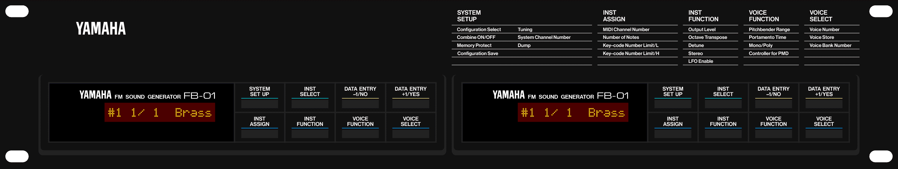 Yamaha RFB01 FB-01 rack mount