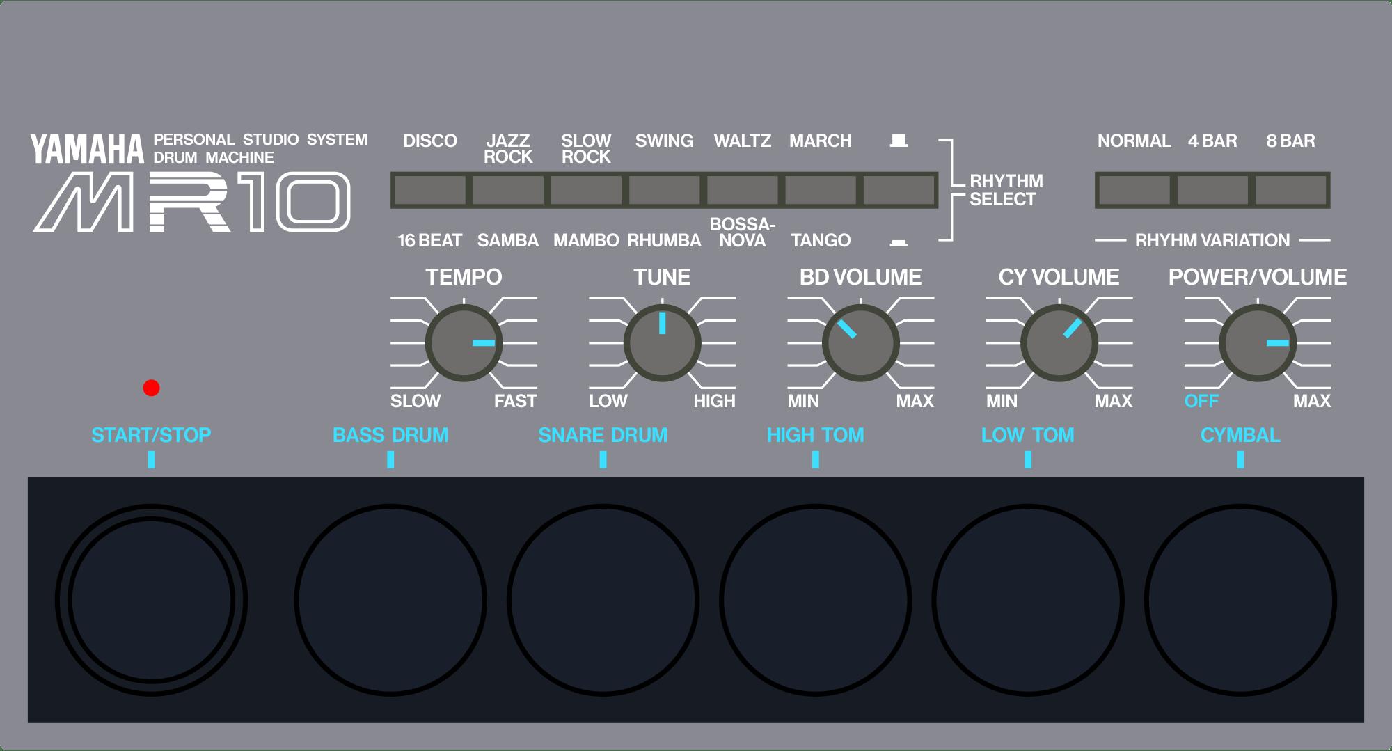 Yamaha MR10 analog drum machine