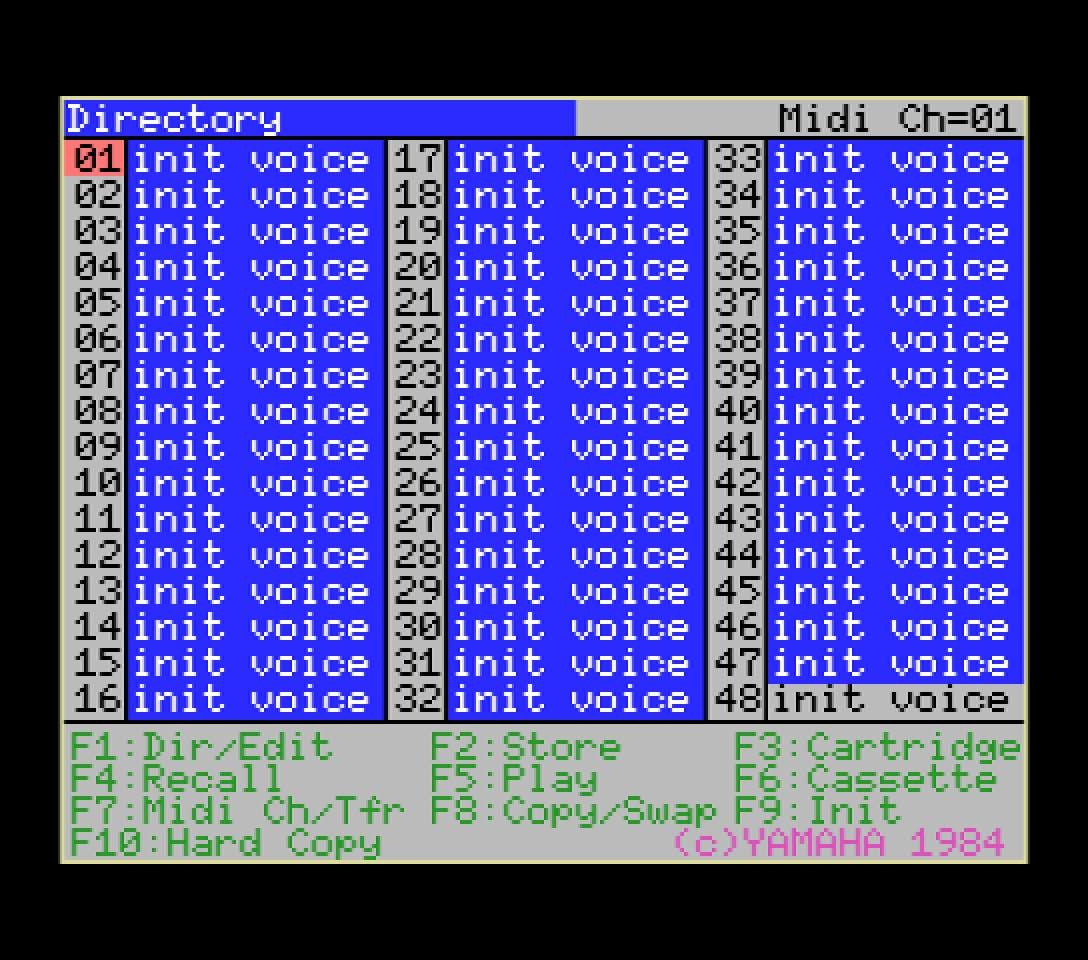 Yamaha YRM103 directory