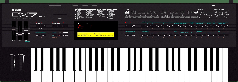 Yamaha DX7II mk2 FD floppy disk synthesizer