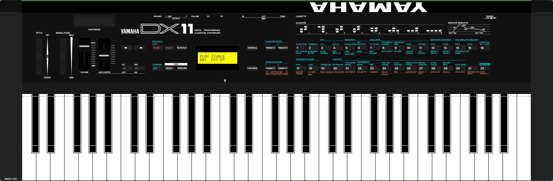 Yamaha DX11 V2 synthesizer