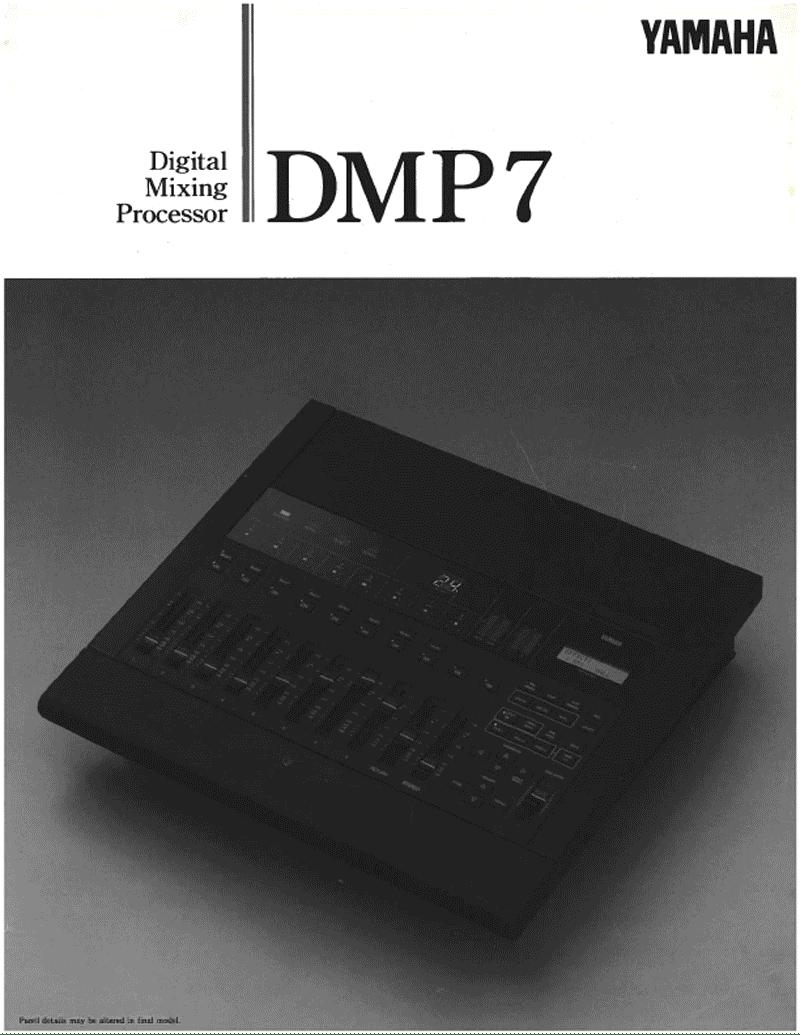 Yamaha DMP7 digital mixer