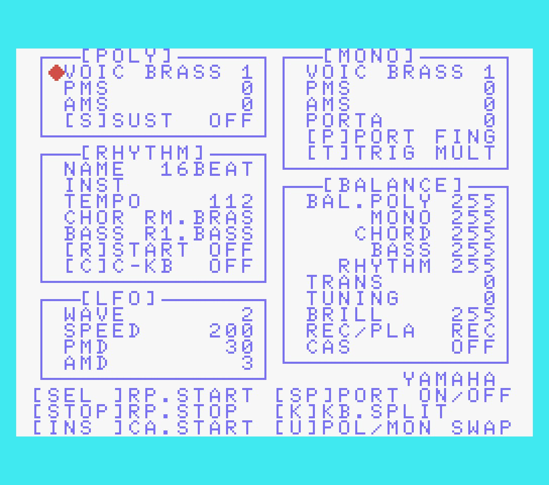 Yamaha SFG01 included FM editor