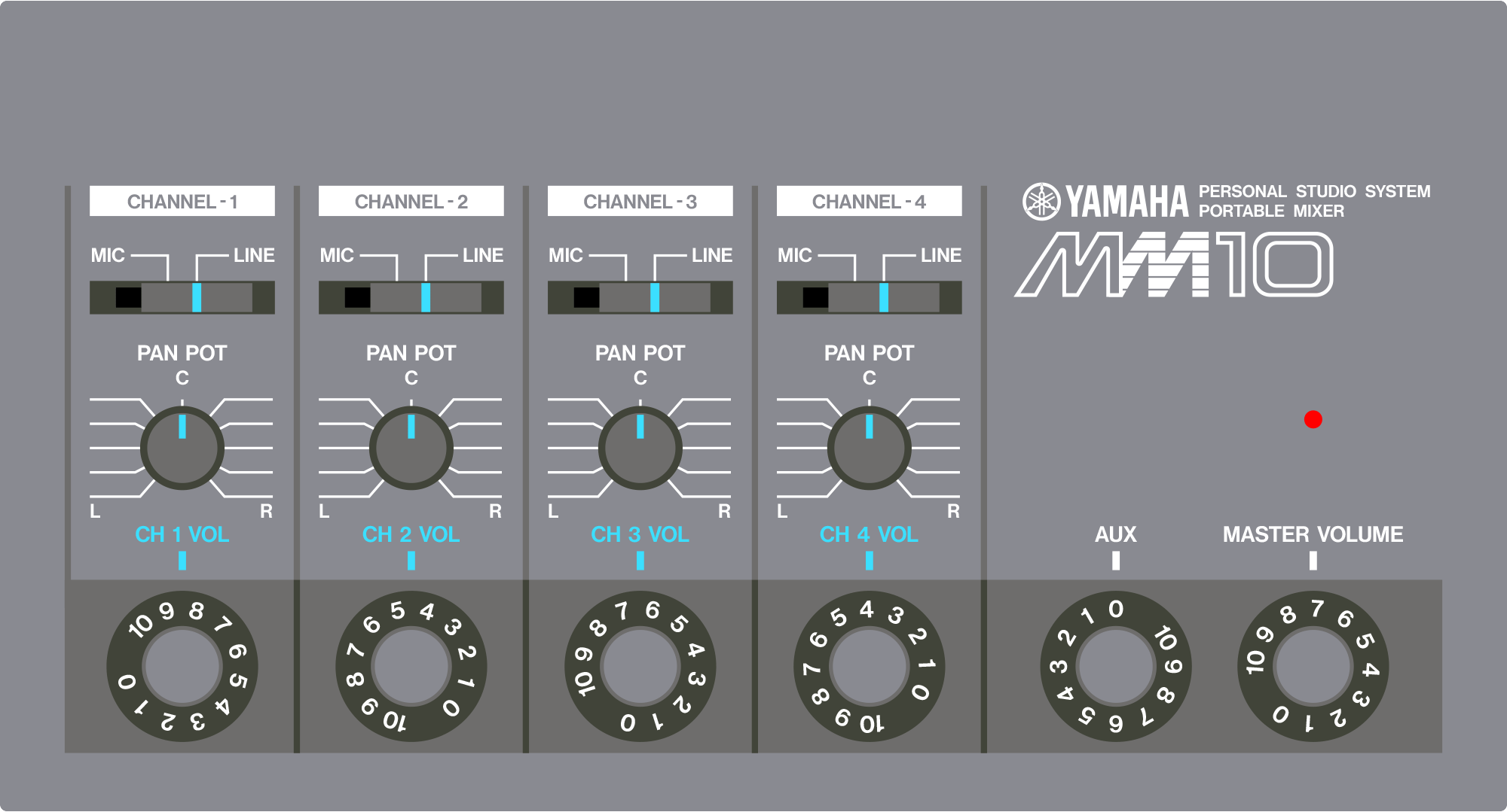 Yamaha MM10 portable mixer