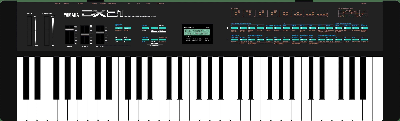 Yamaha DX21 FM synthesizer