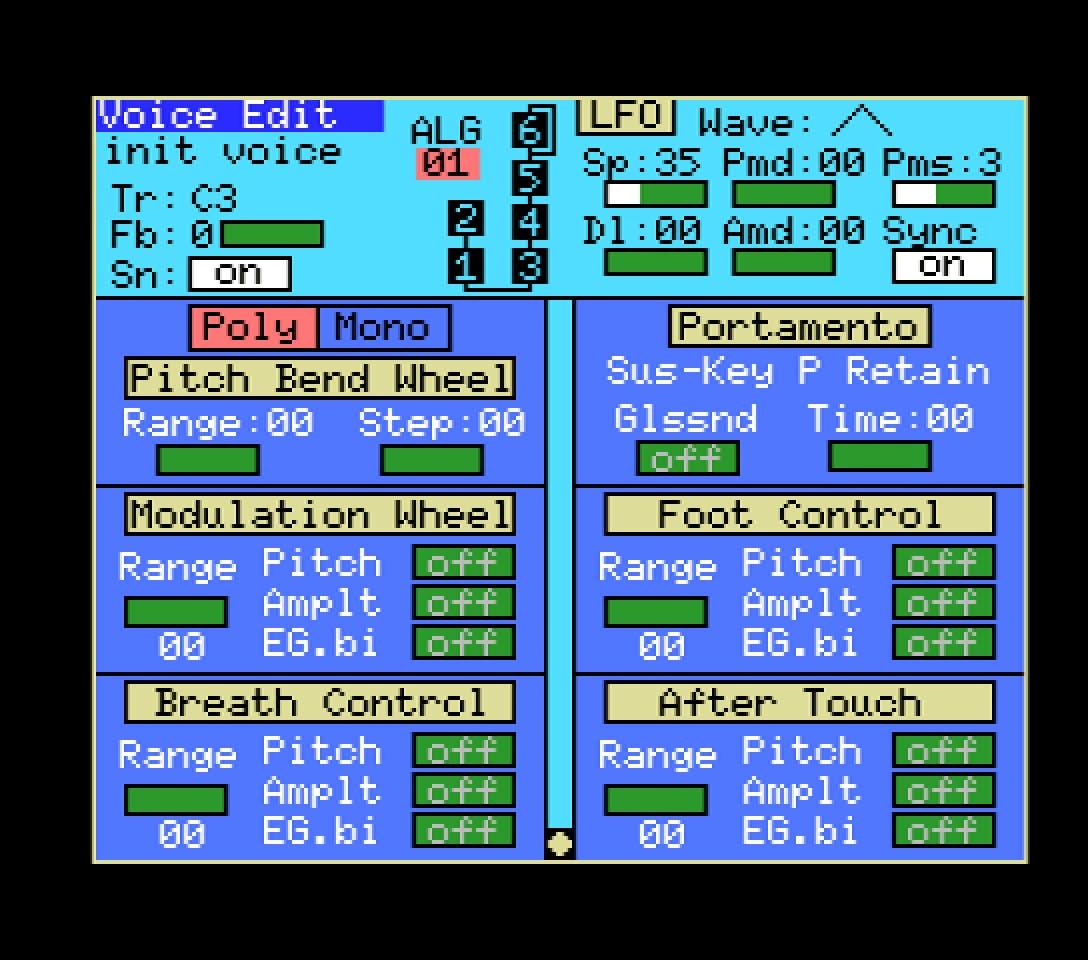 Yamaha YRM103 editor 3